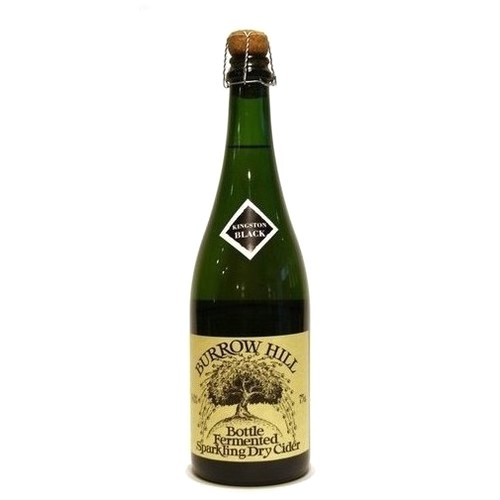 Burrow Hill Kingston Black Bottle Fermented Sparkling Dry Cider 75cl